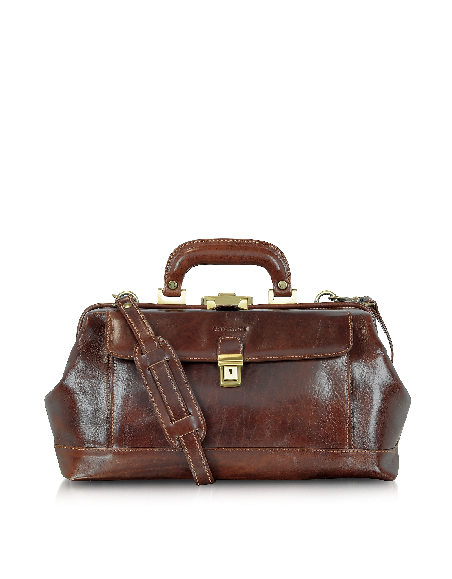 Chiarugi Briefcases, Handmade Brown Leather Professional Doctor Bag
