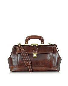 Handmade Brown Leather Professional Doctor Bag - Chiarugi