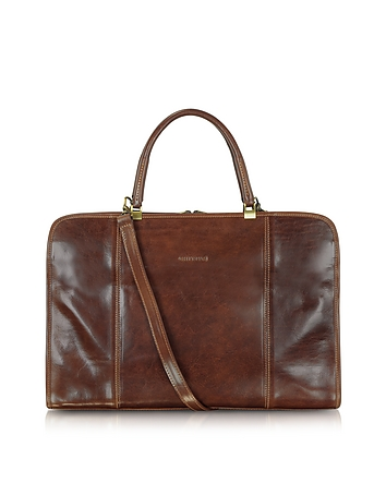 Chiarugi - Double Handle Leather Briefcase