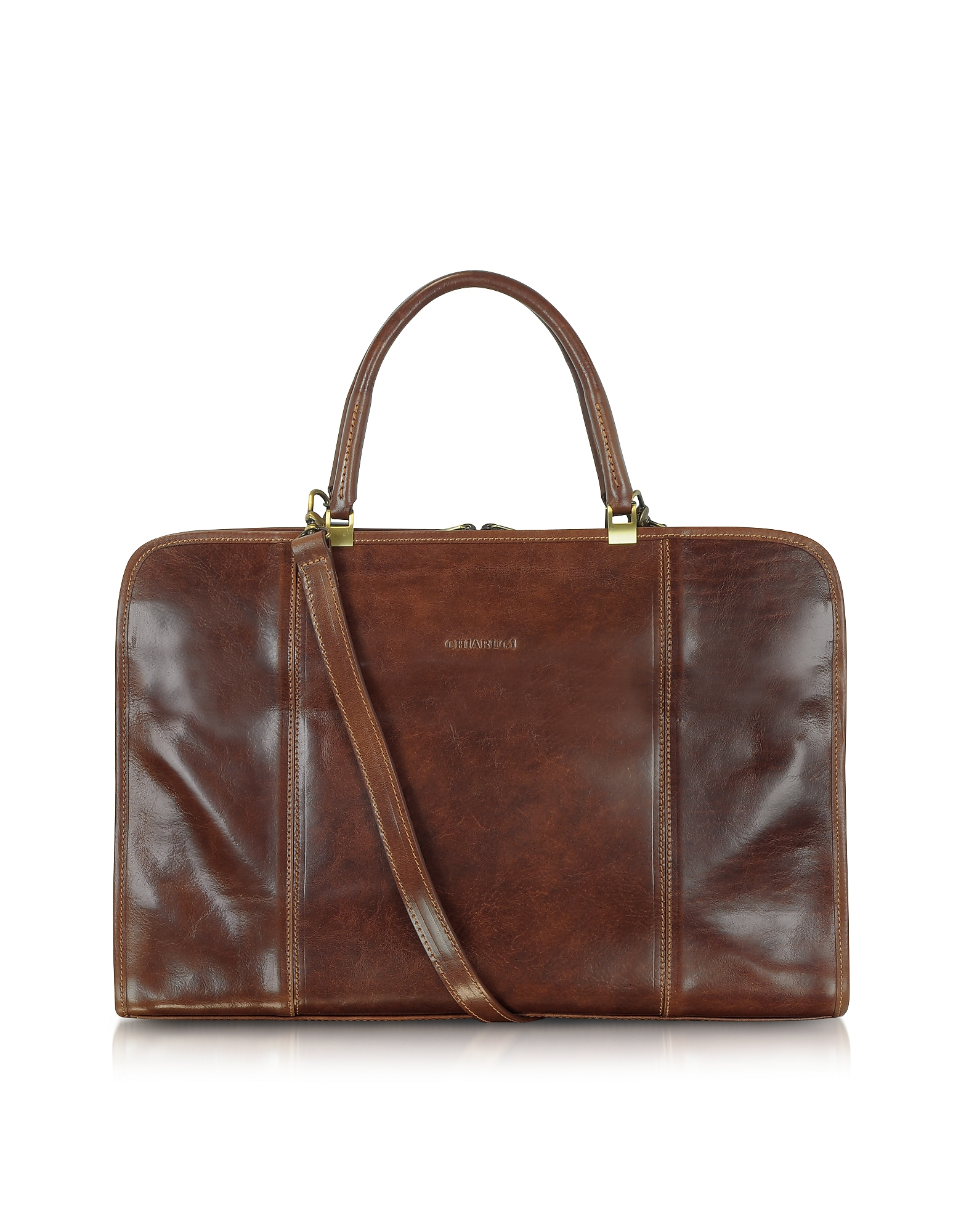 Chiarugi Briefcases, Double Handle Leather Briefcase