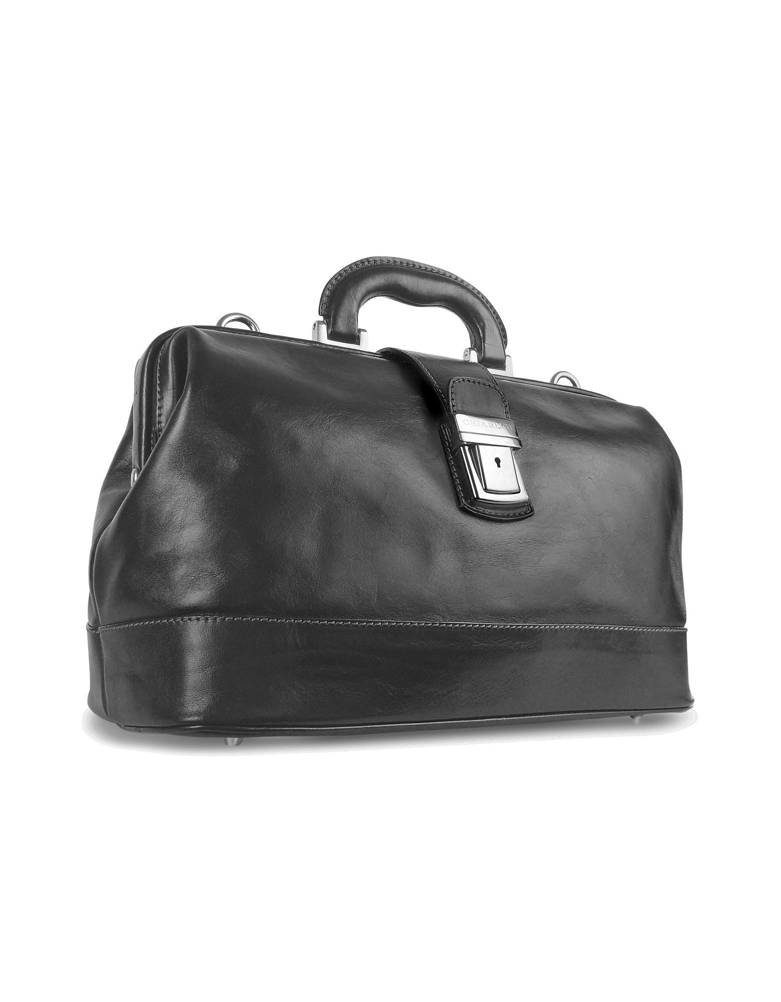 Image of Black Genuine Italian Leather Doctor Bag