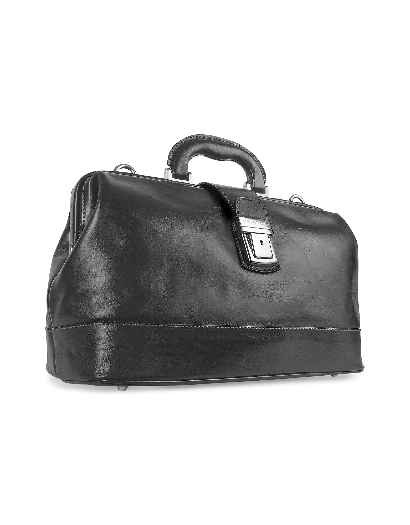 Chiarugi Briefcases, Black Genuine Italian Leather Doctor Bag