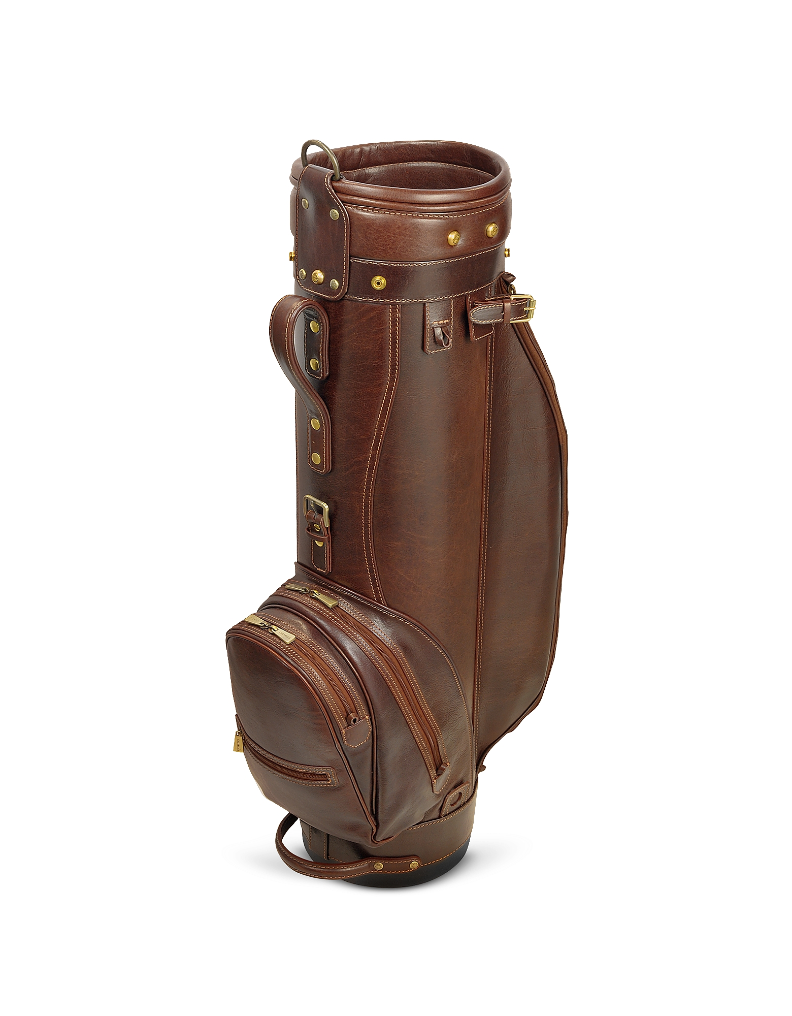 "Chiarugi Golf World, Prestige 8"" Genuine Italian Leather Golf Bag"