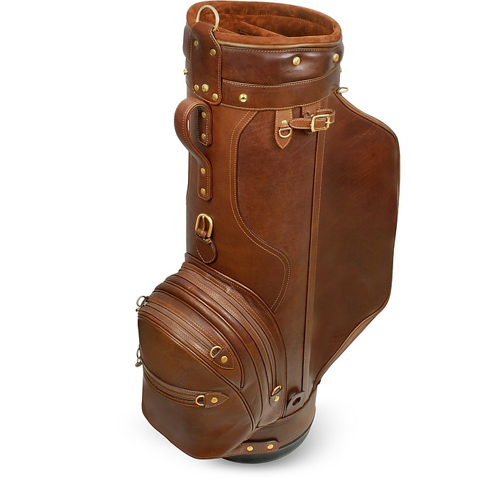 "Pro Staff 9.5"" Genuine Italian Leather Golf Bag - Pellevera"