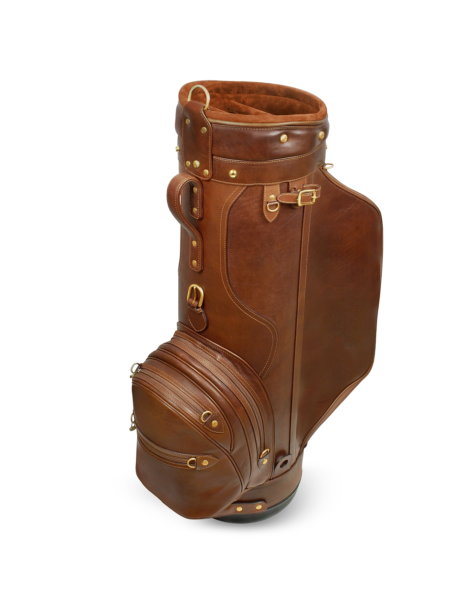 "Pro Staff 9.5"" Genuine Italian Leather Golf Bag"