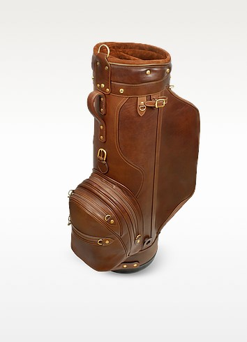 "Pro Staff 9.5"" Genuine Italian Leather Golf Bag - Pellevera"
