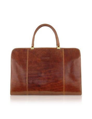 Handmade Brown Genuine Italian Leather Business Bag
