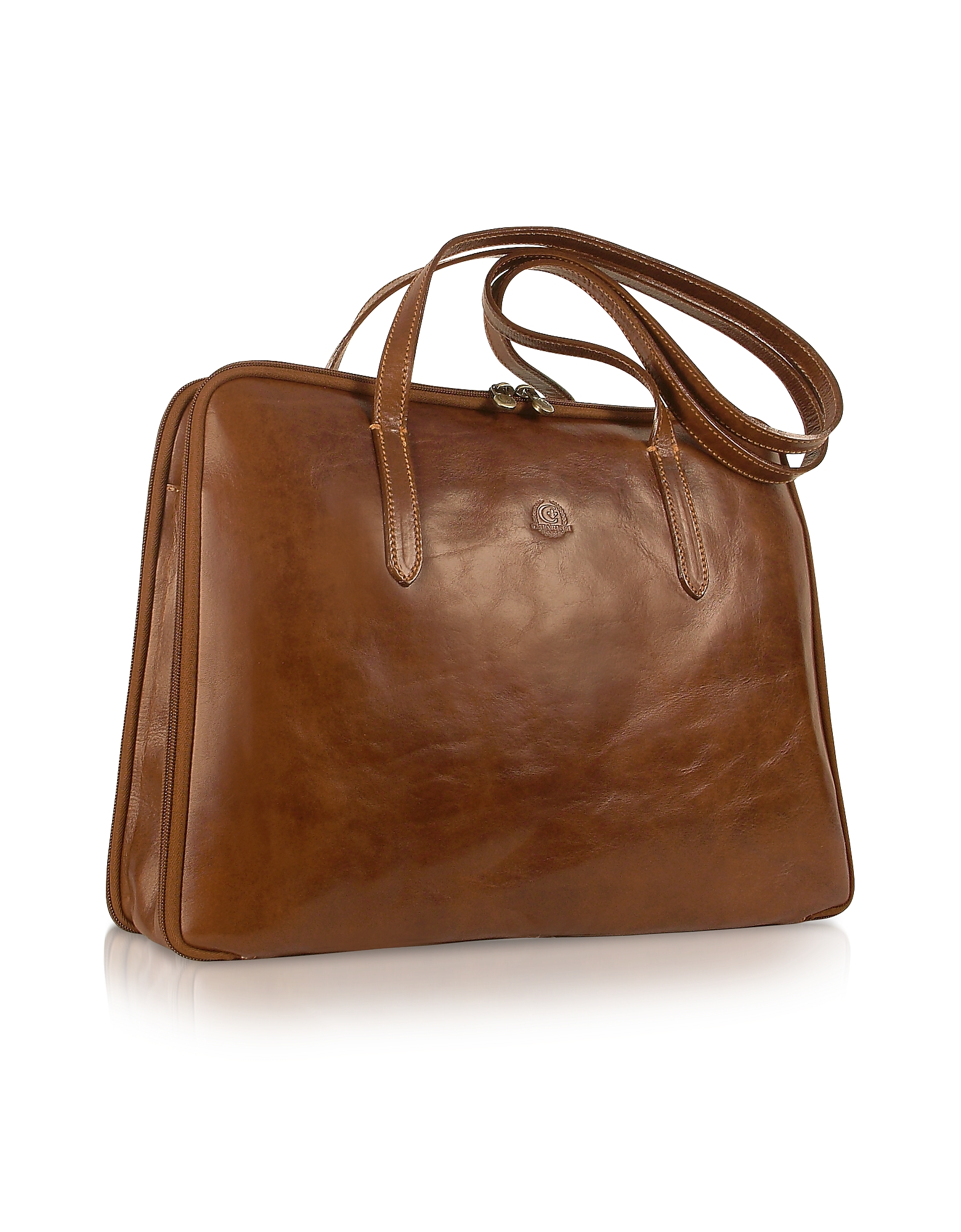 Handmade Brown Genuine Italian Leather Business Bag