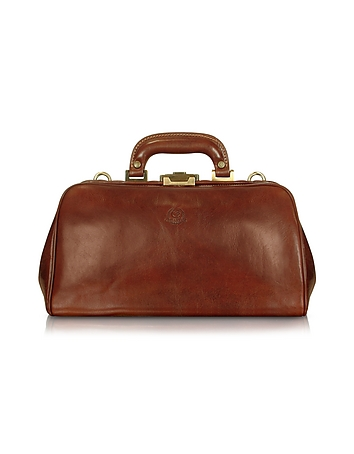 Handmade Brown Genuine Leather Doctor Bag