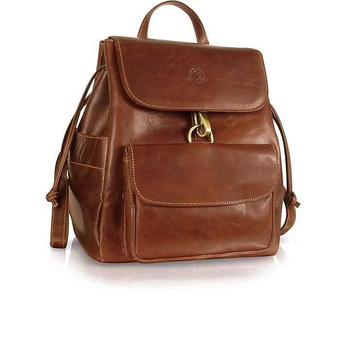 Handmade Brown Genuine Leather Backpack - Chiarugi