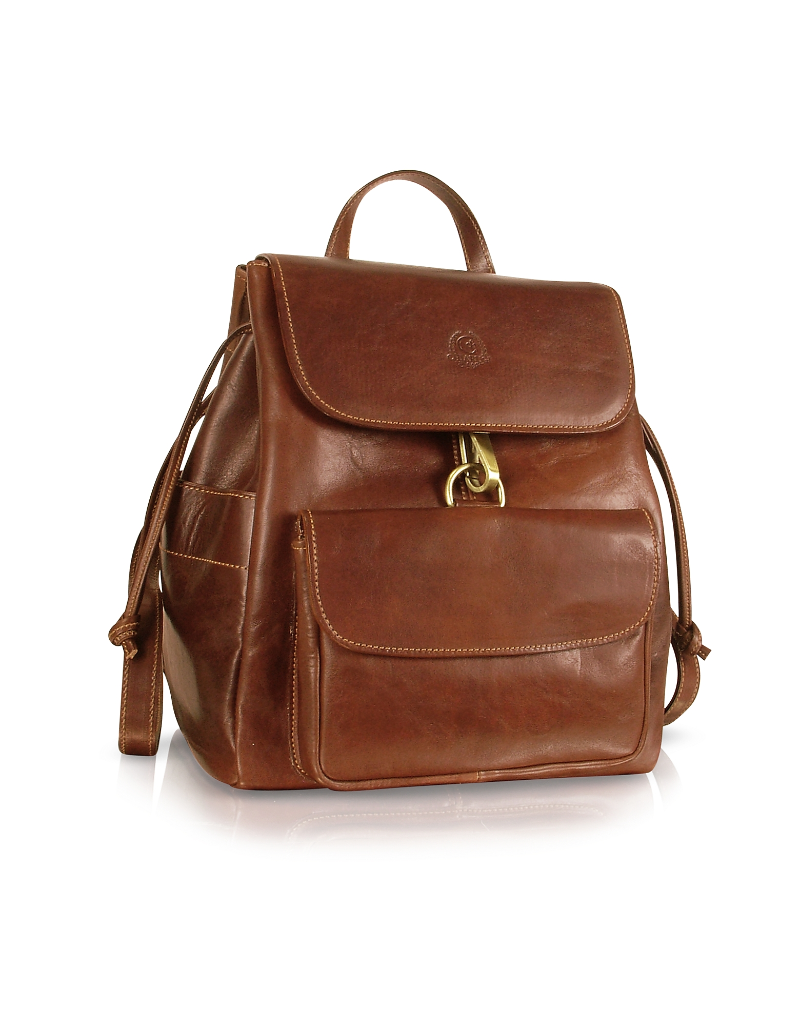 Handmade Brown Genuine Leather Backpack