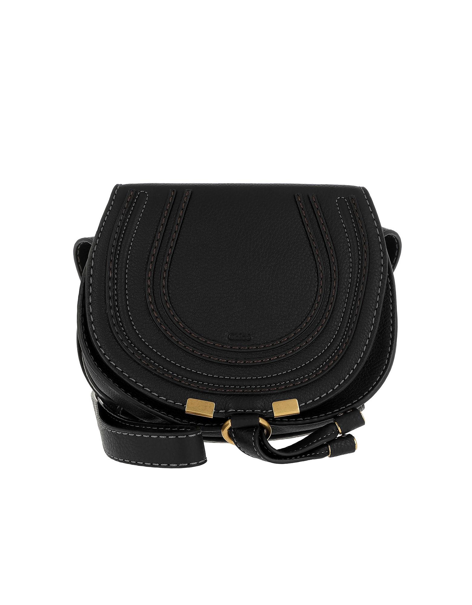 Chloe Designer Handbags, Marcie Crossbody Small Black (Luggage & Bags) photo