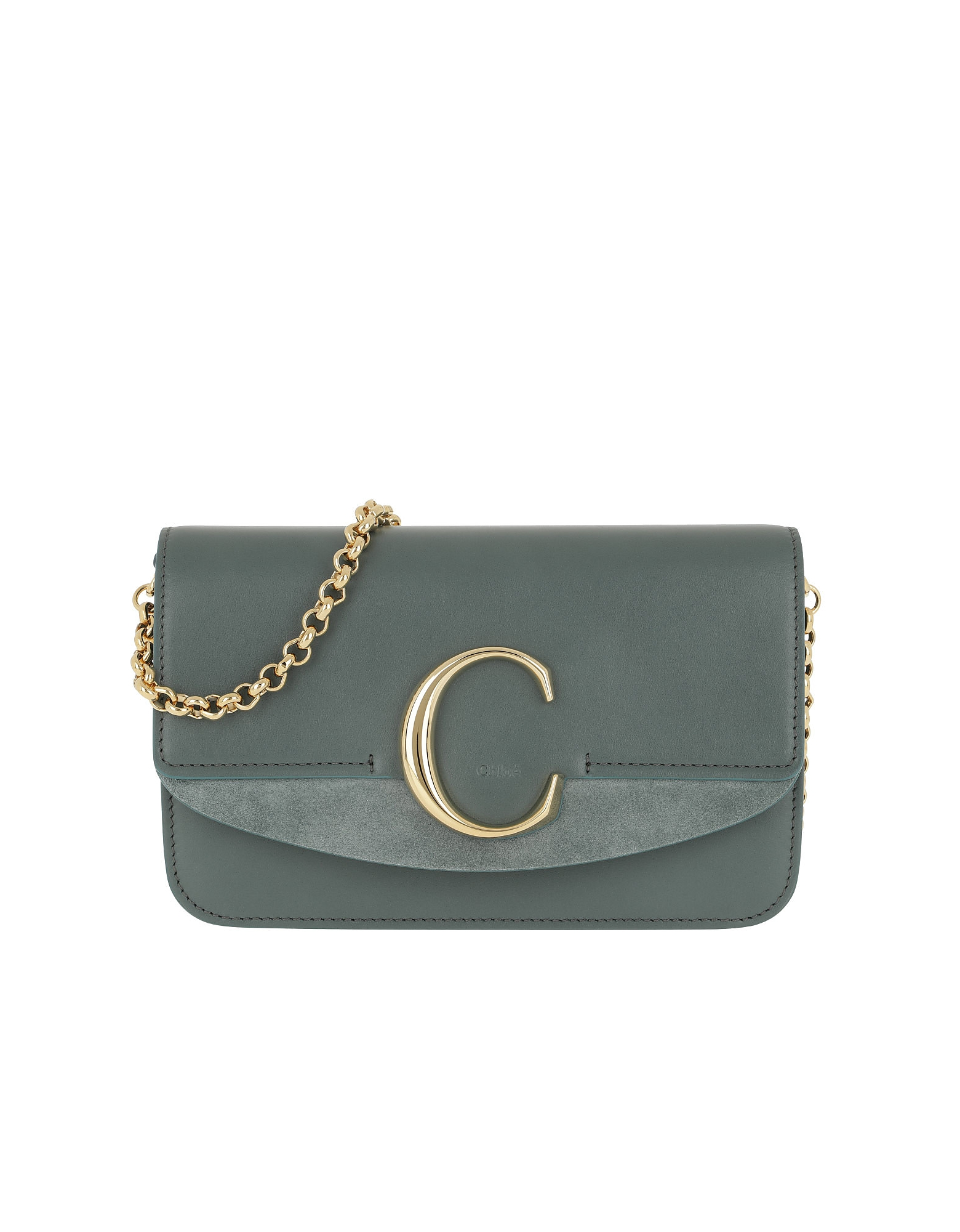 C Clutch With Cahin Cloudy Blue