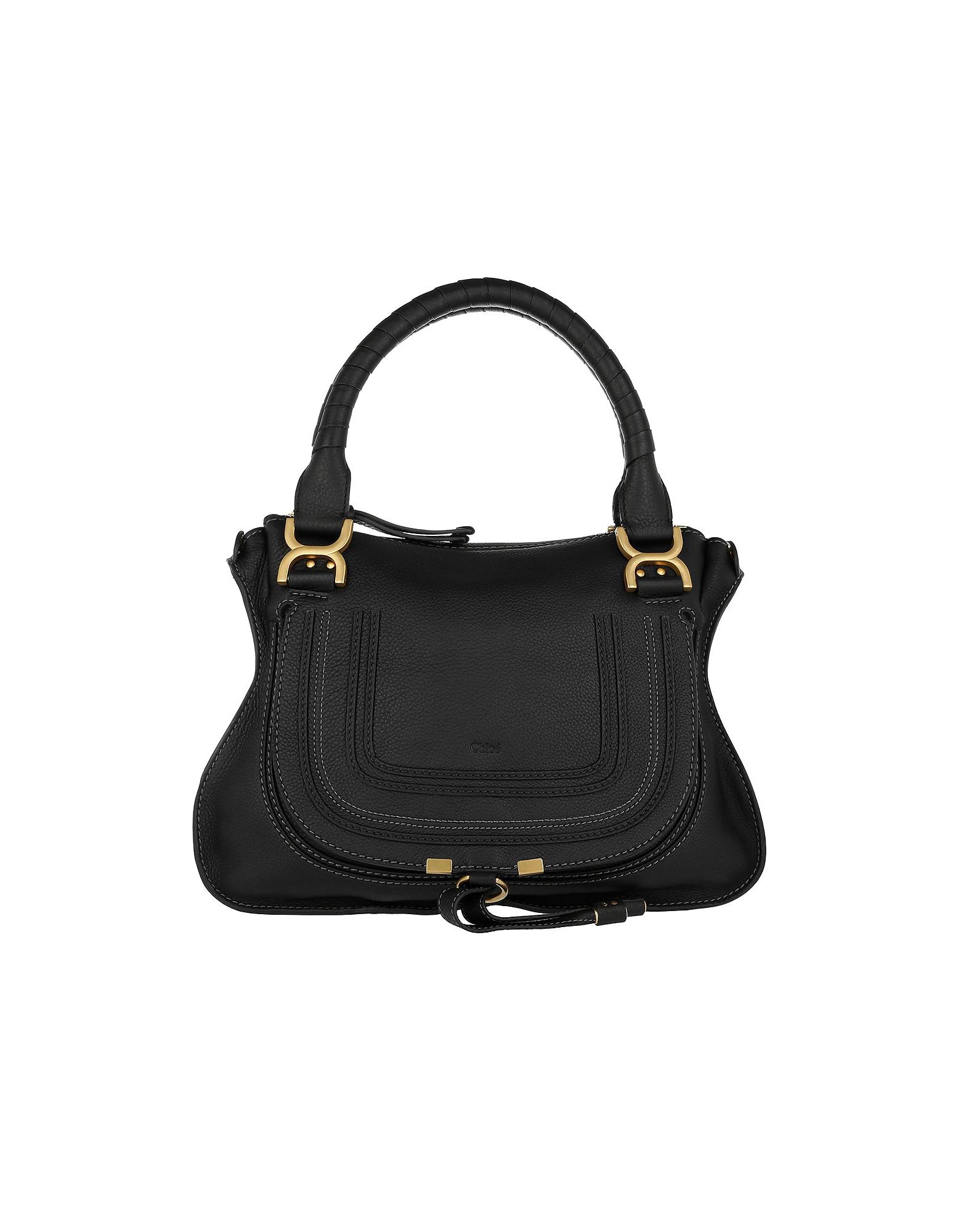 Chloe Handbags, Marcie Medium Shoulder Bag Black