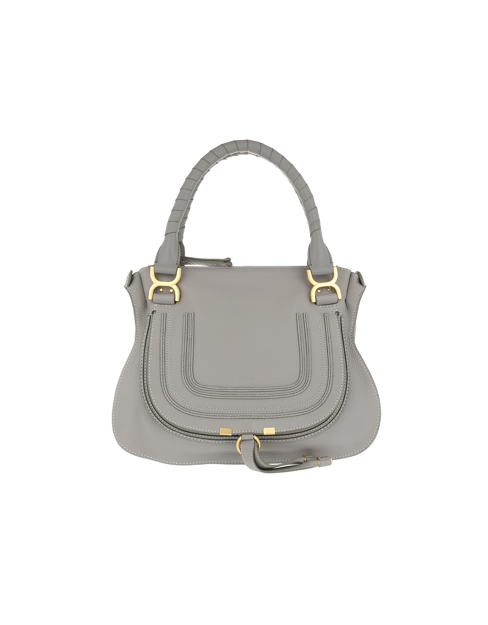 Chloe Designer Handbags, Marcie Medium Shoulder Bag Cashmere Grey (Luggage & Bags) photo
