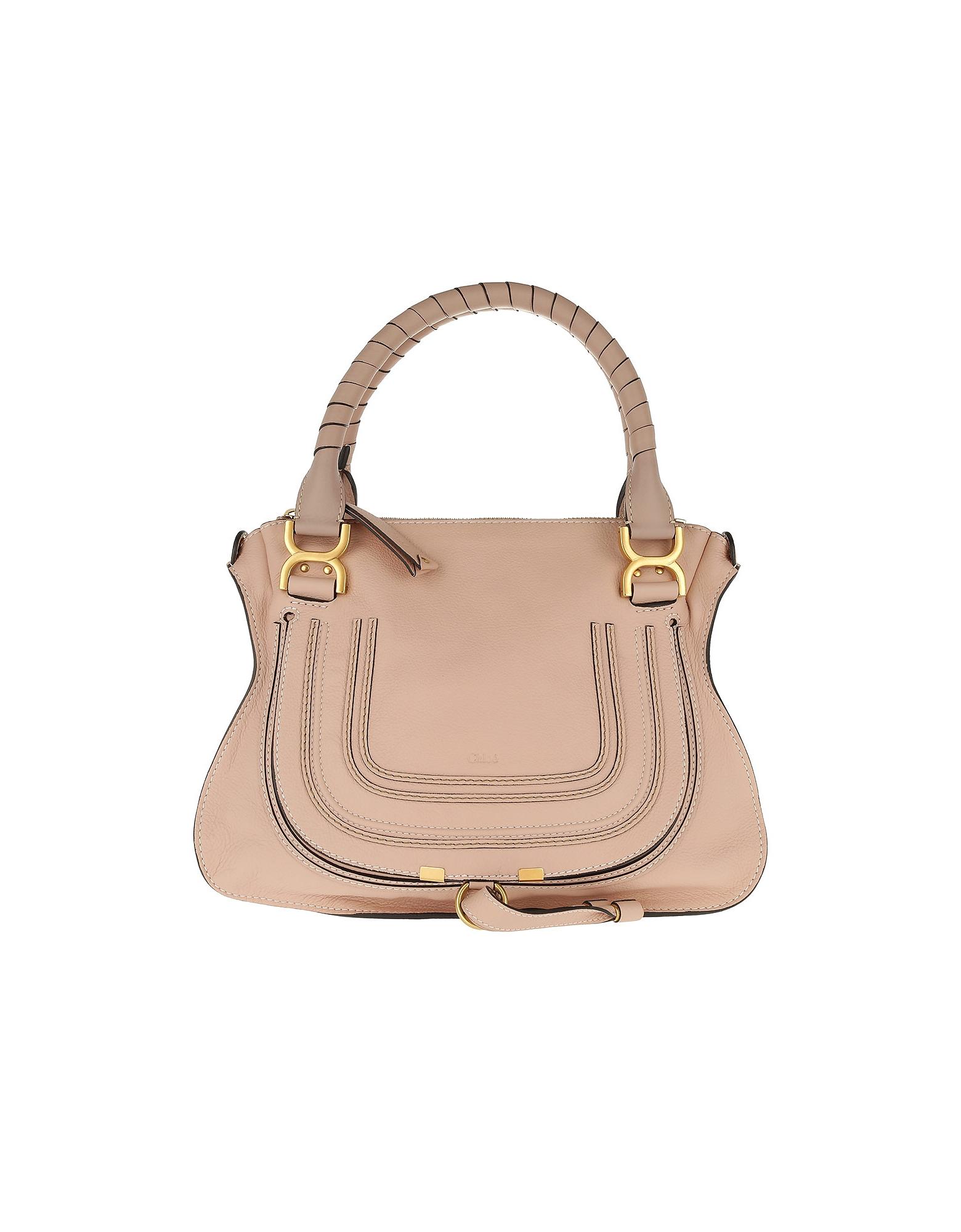 Chloe Designer Handbags, Marcie Porte Epaule Blush Nude (Luggage & Bags) photo