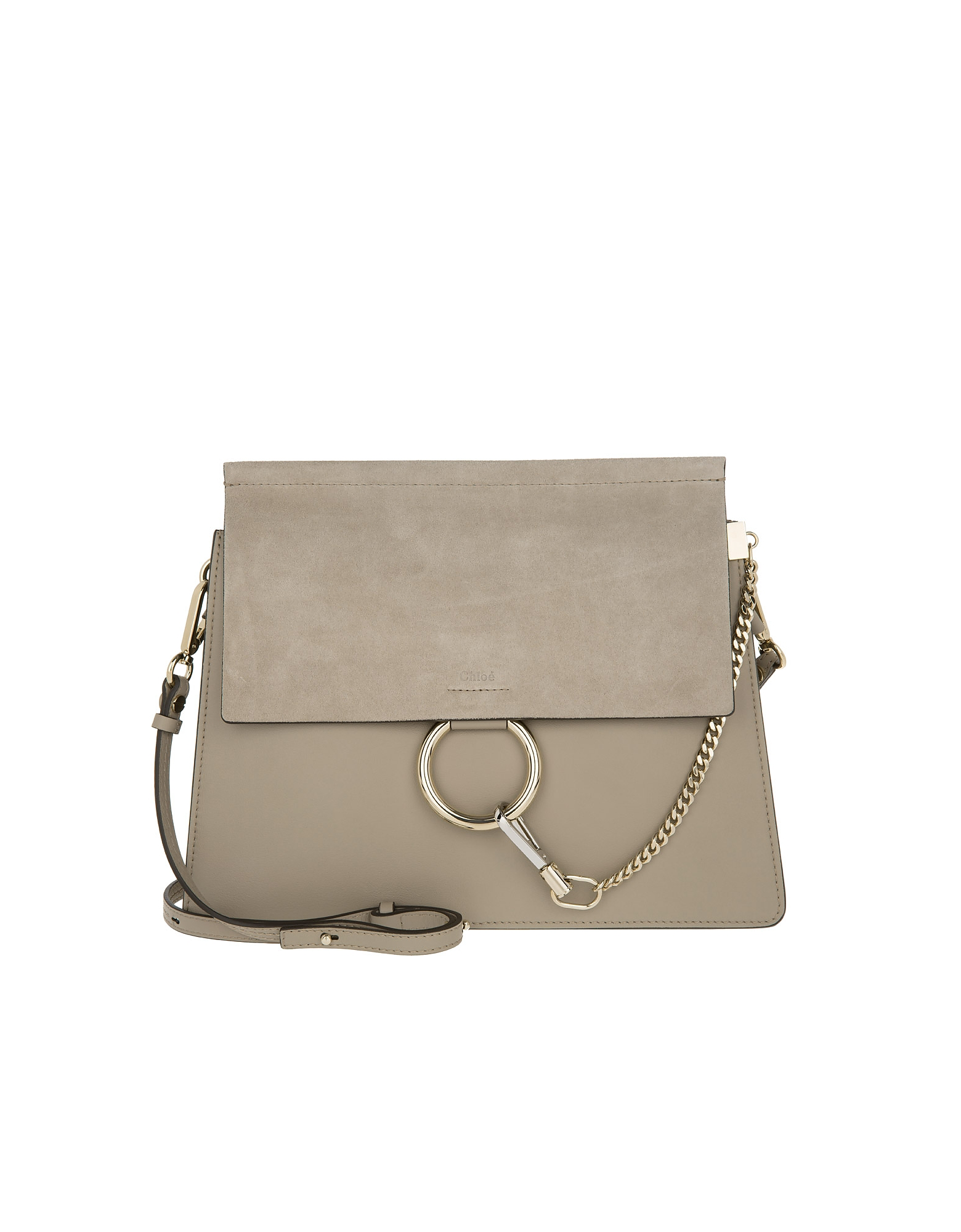 Chloe Handbags, Faye Shoulder Bag Motty Grey
