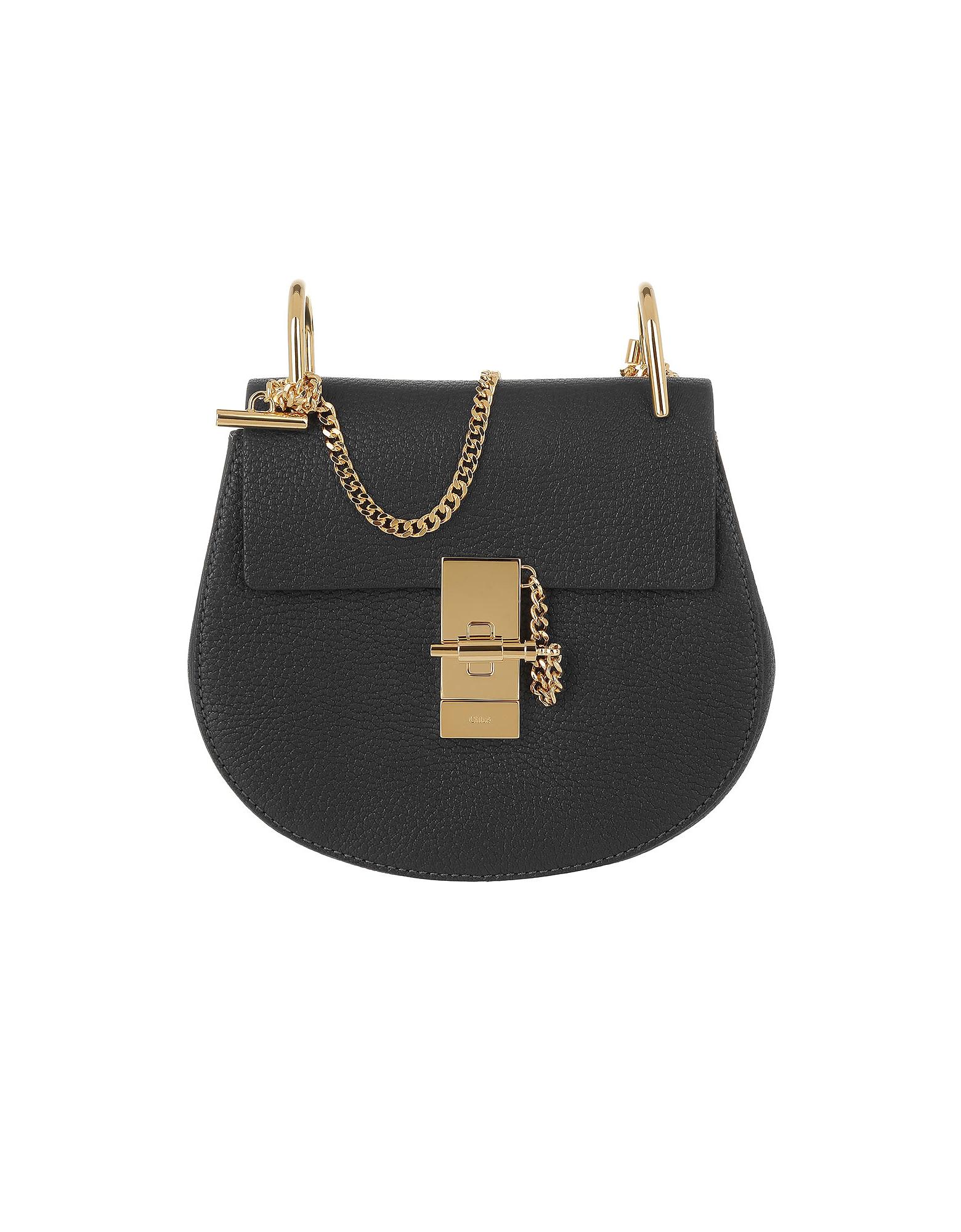 Chloe Handbags, Drew Porte Epaule Mini Black