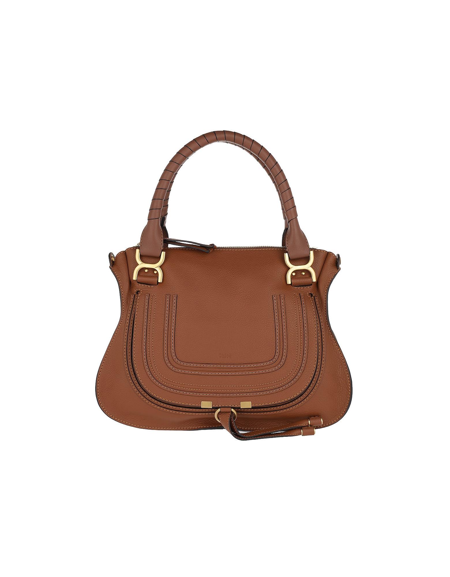 Chloe Handbags, Marcie Medium Shoulder Bag Tan