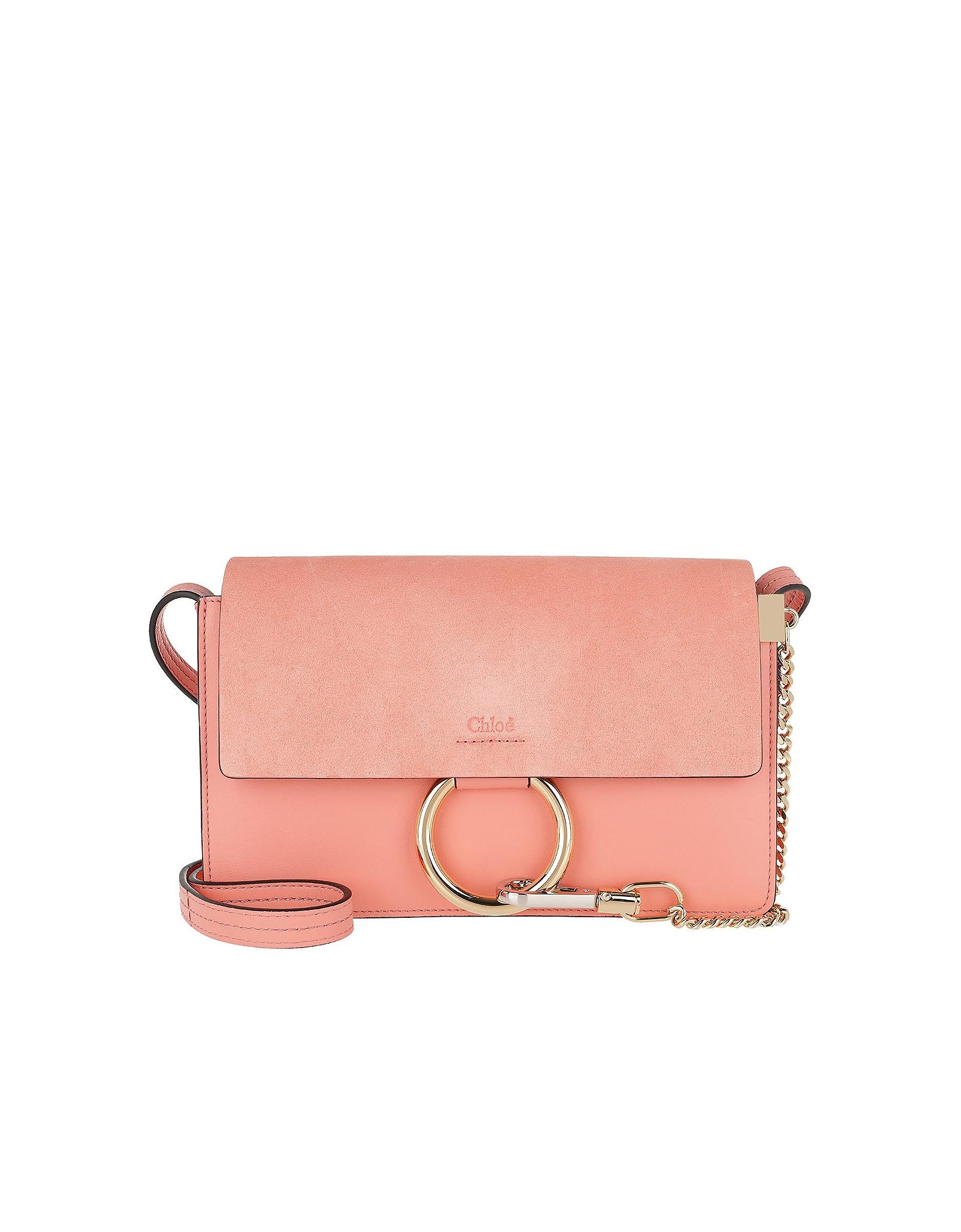 Chloe Handbags, Faye Small Shoulder Bag Ideal Blush
