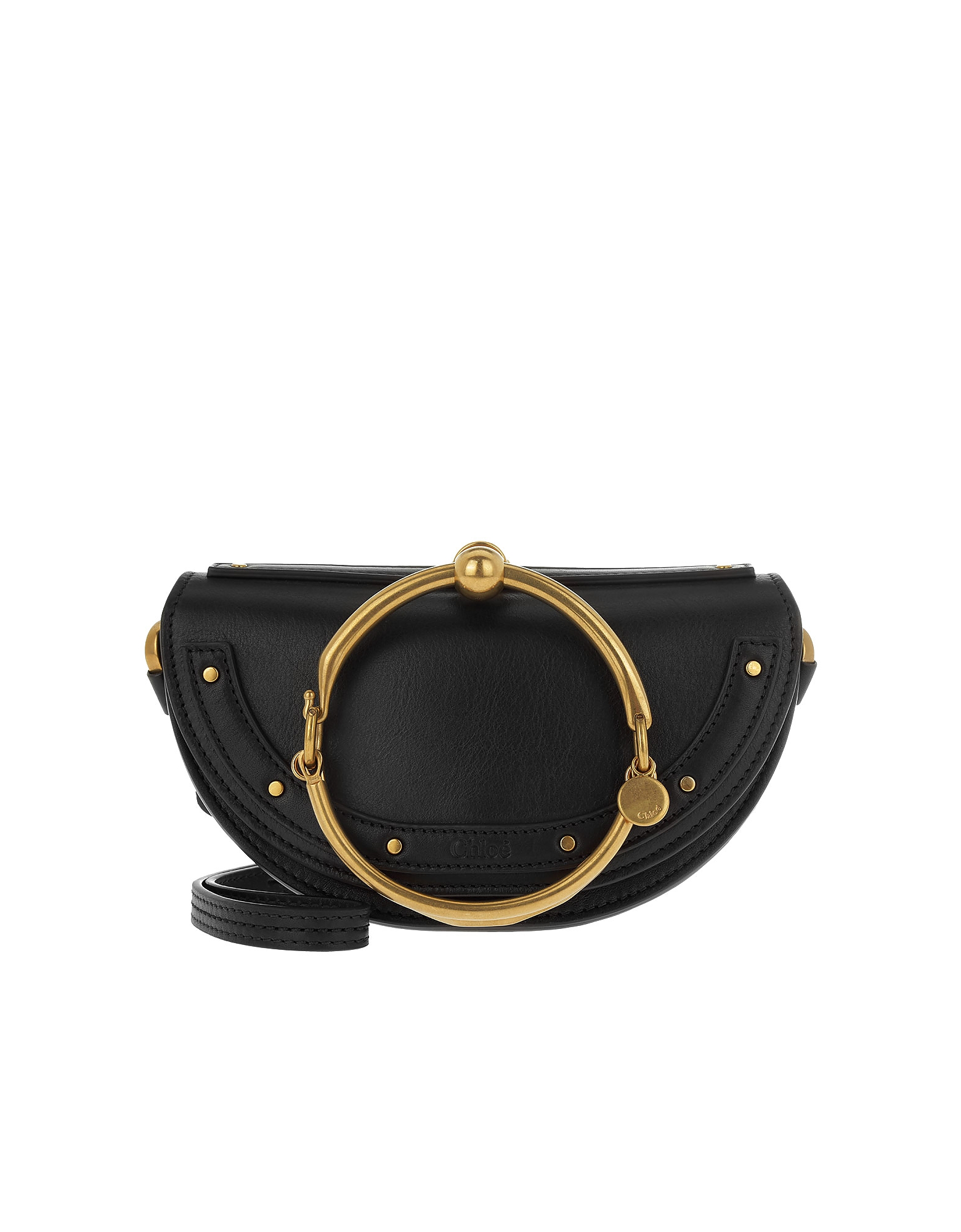 Chloe Handbags, Nile Pochette Black