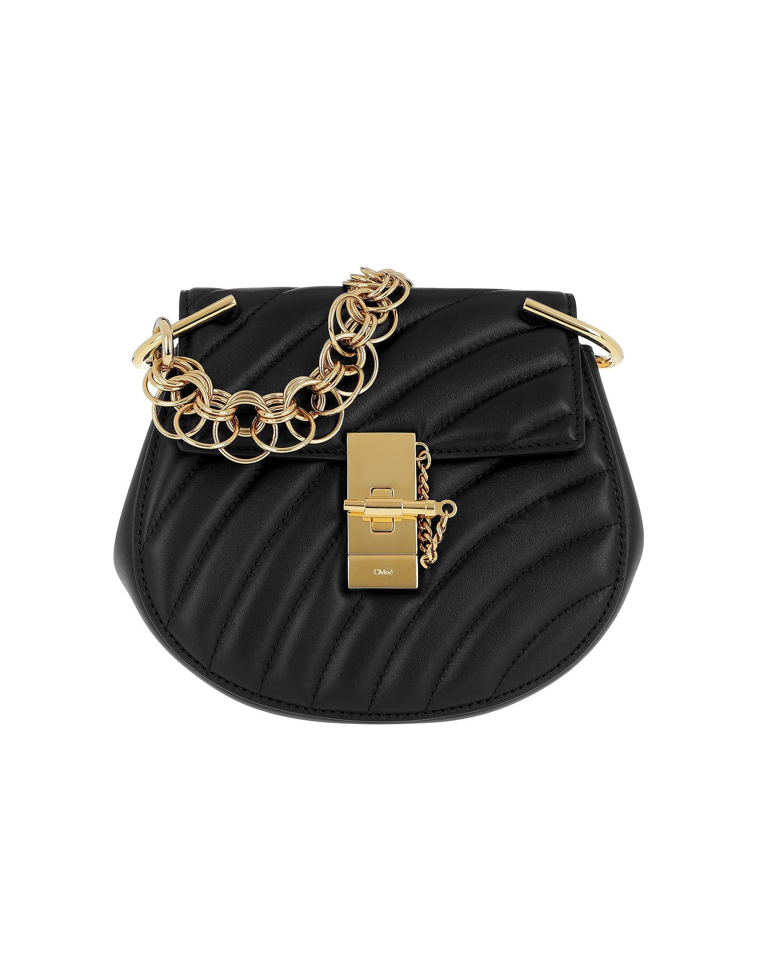 Drew Bijou Mini Leather Black