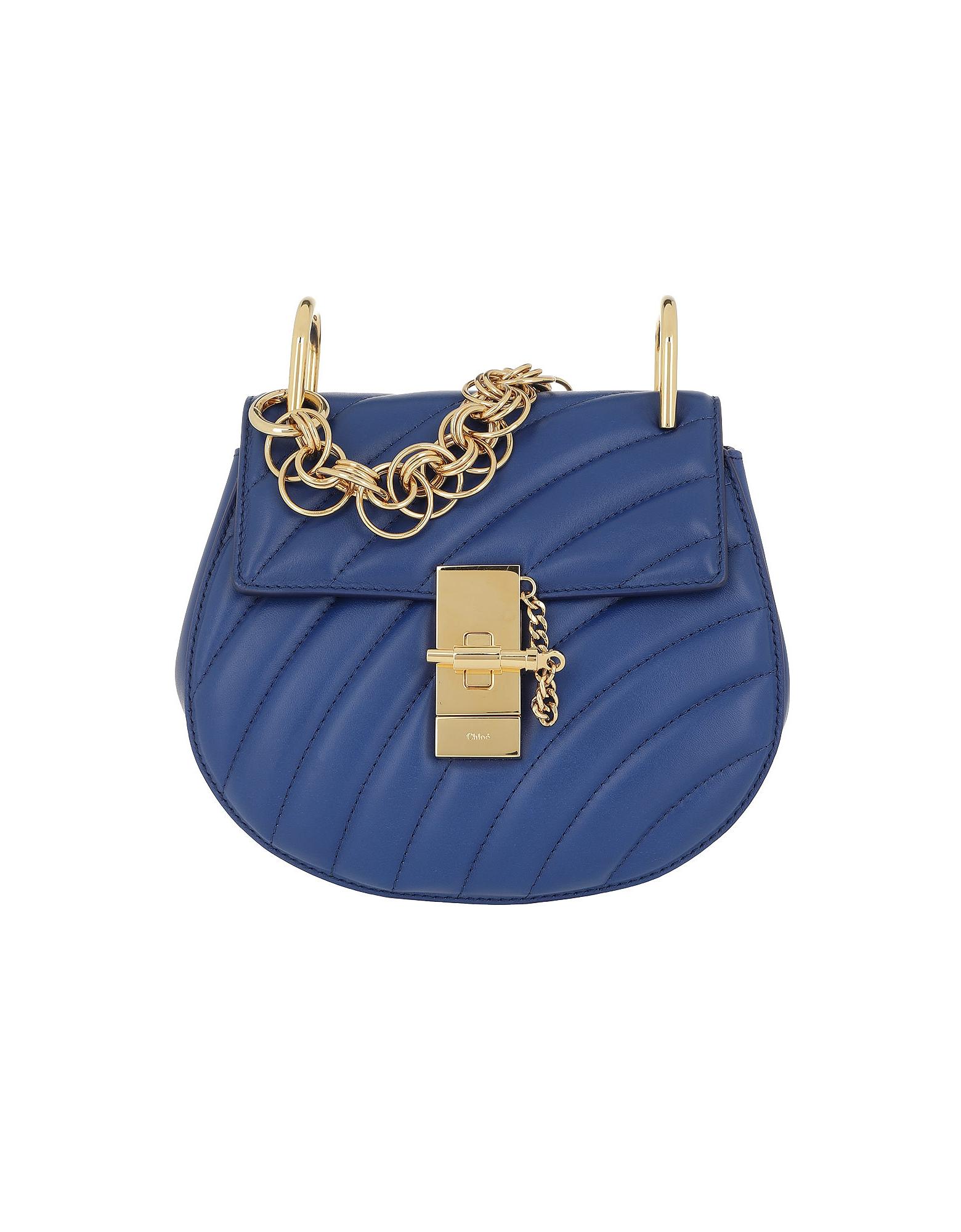 Drew Bijou Mini Leather Majesty Blue