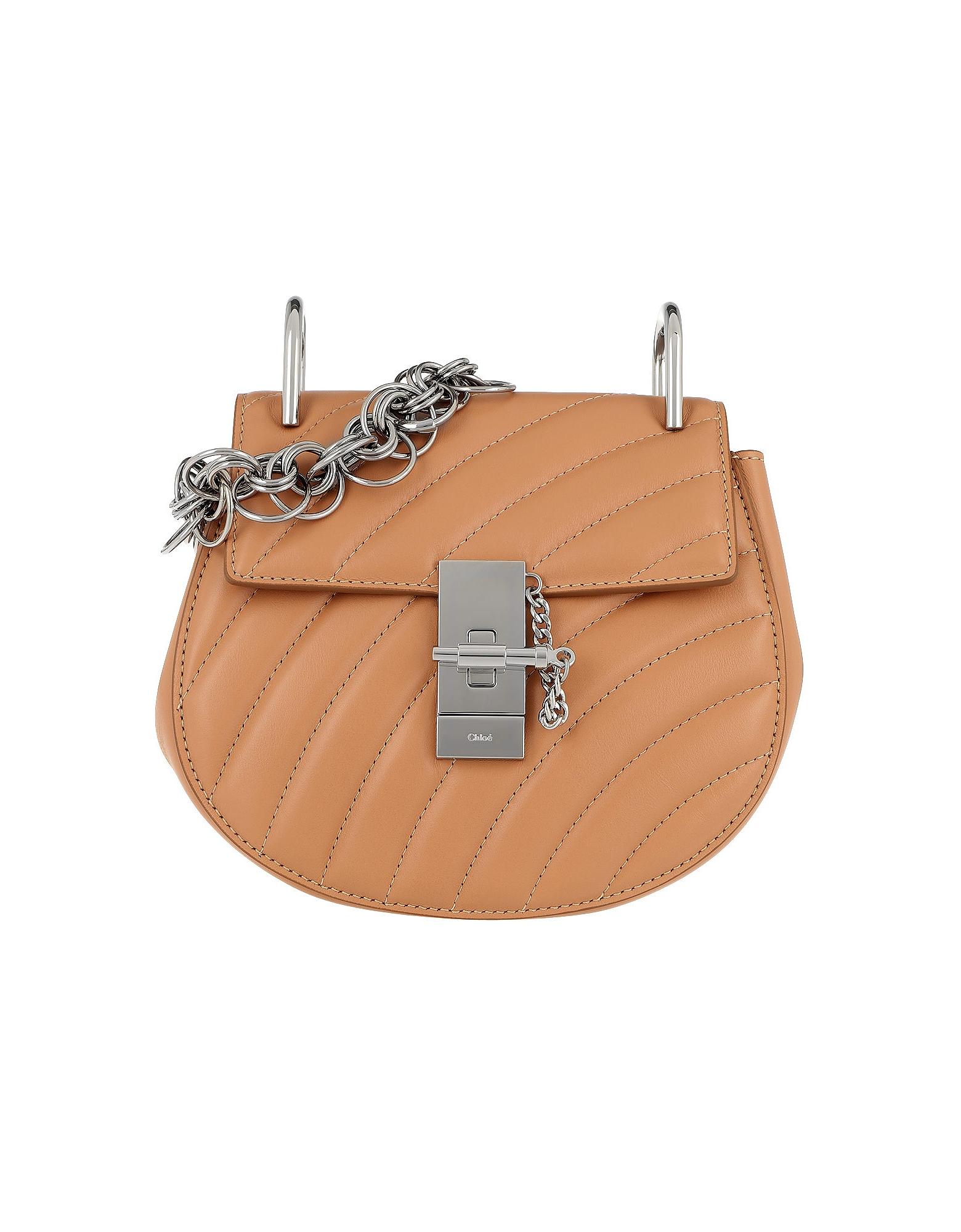 Chloe Handbags, Drew Bijou Mini Quilted Leather Blush Pink