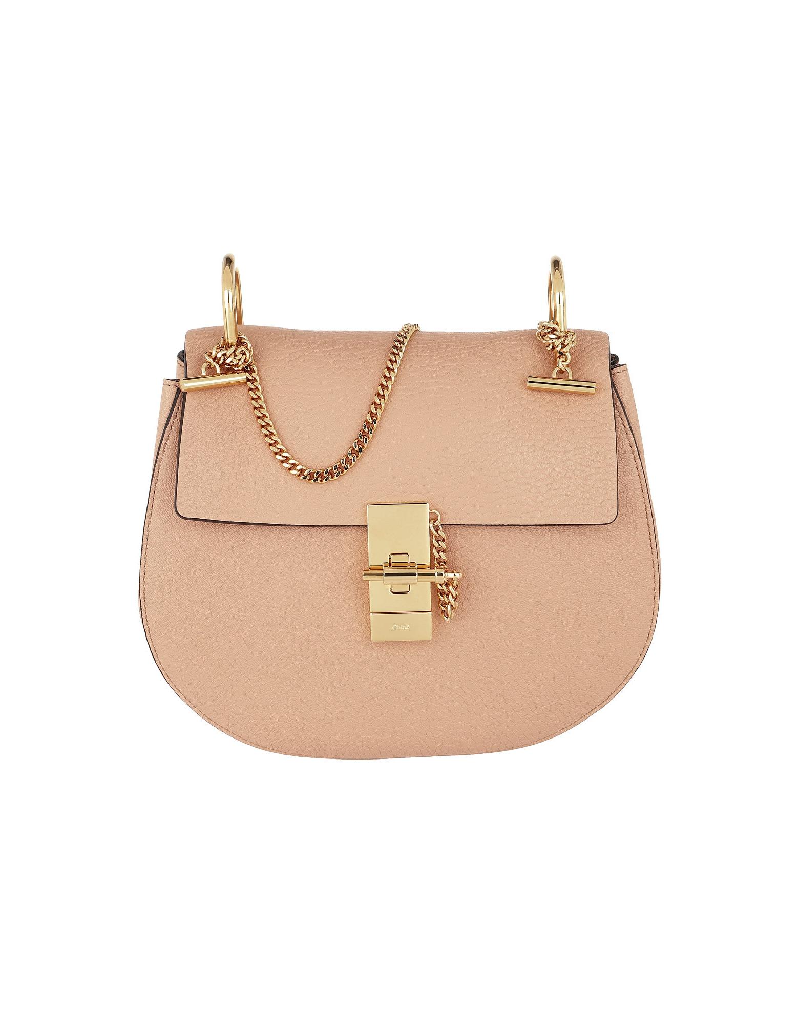 Chloe Handbags, Drew Crossbody Bag Small Bisquit Pink