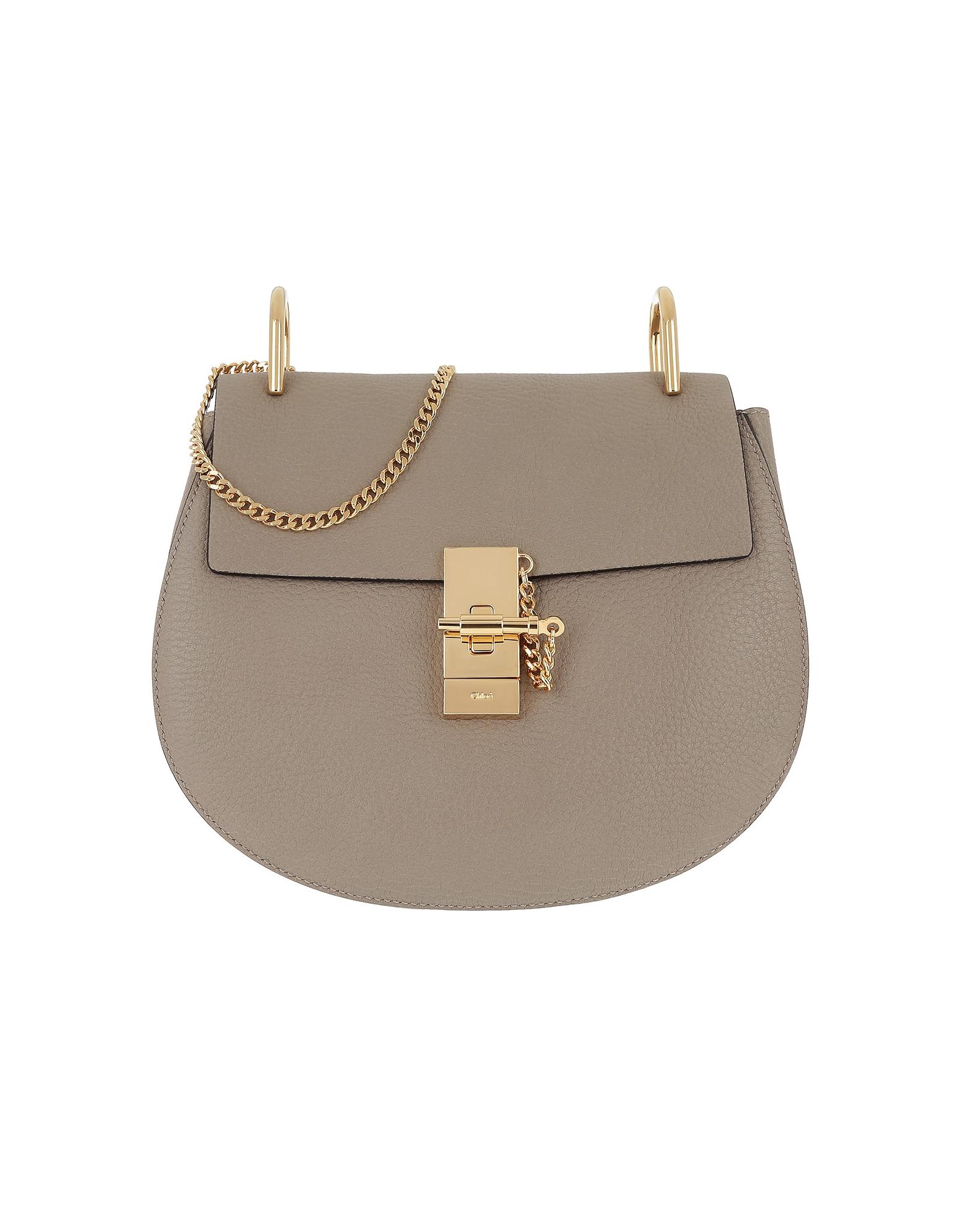 Chloe Designer Handbags, Drew Crossbody Bag Motty Grey (Luggage & Bags) photo