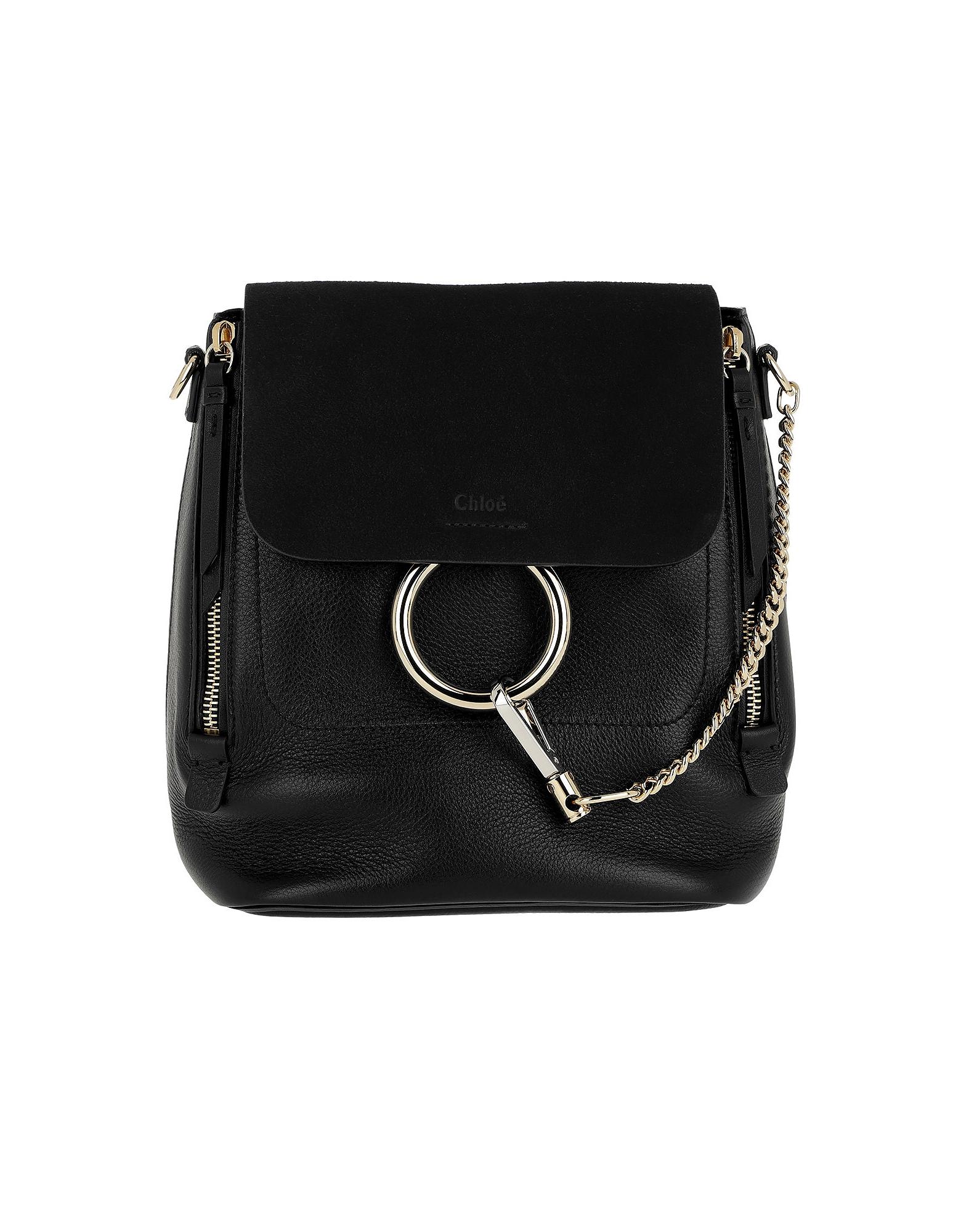 Chloe Handbags, Faye Backpack Small Black