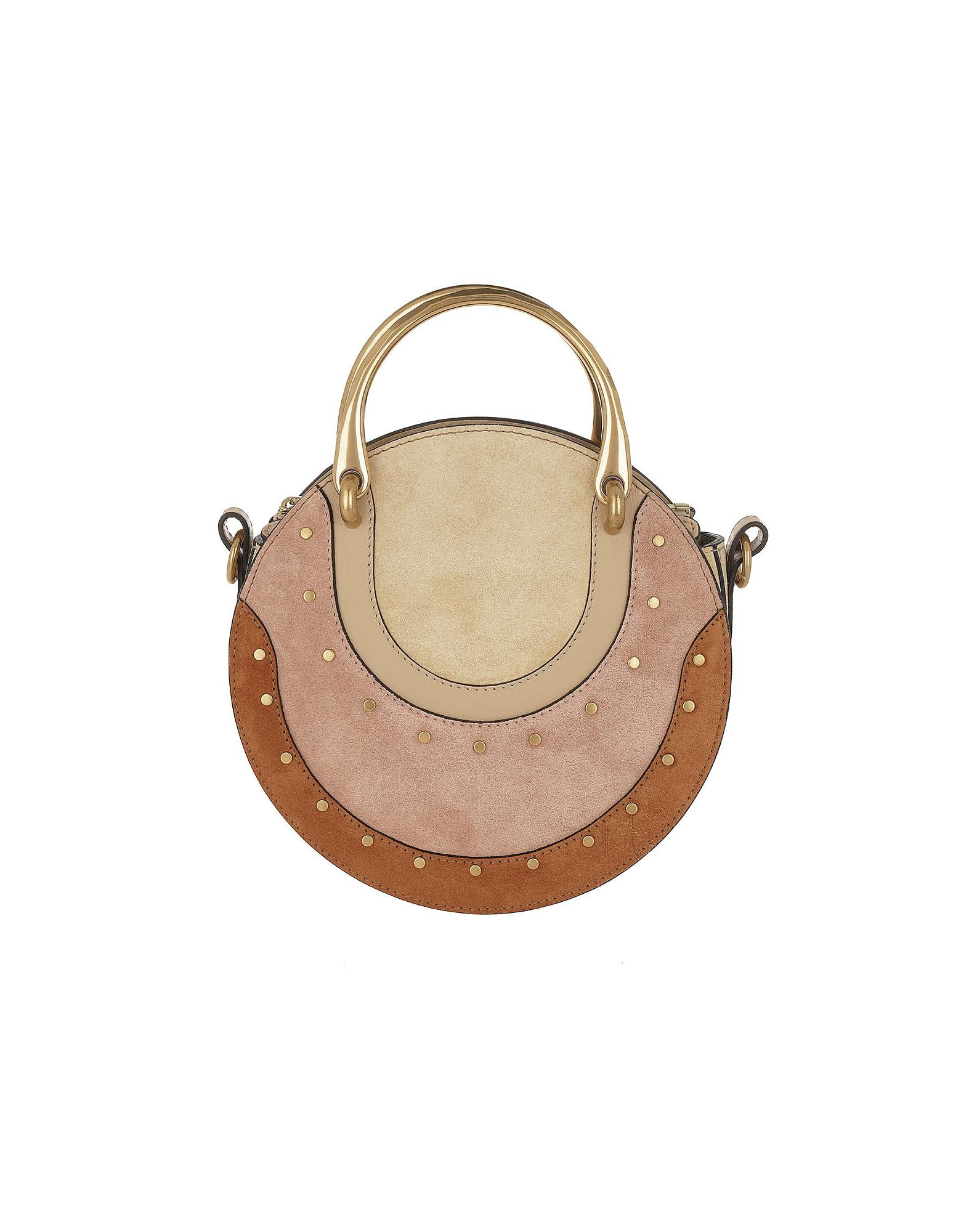 Chloe Handbags, Pixie Small Shoulder Bag Suede Pearl Beige