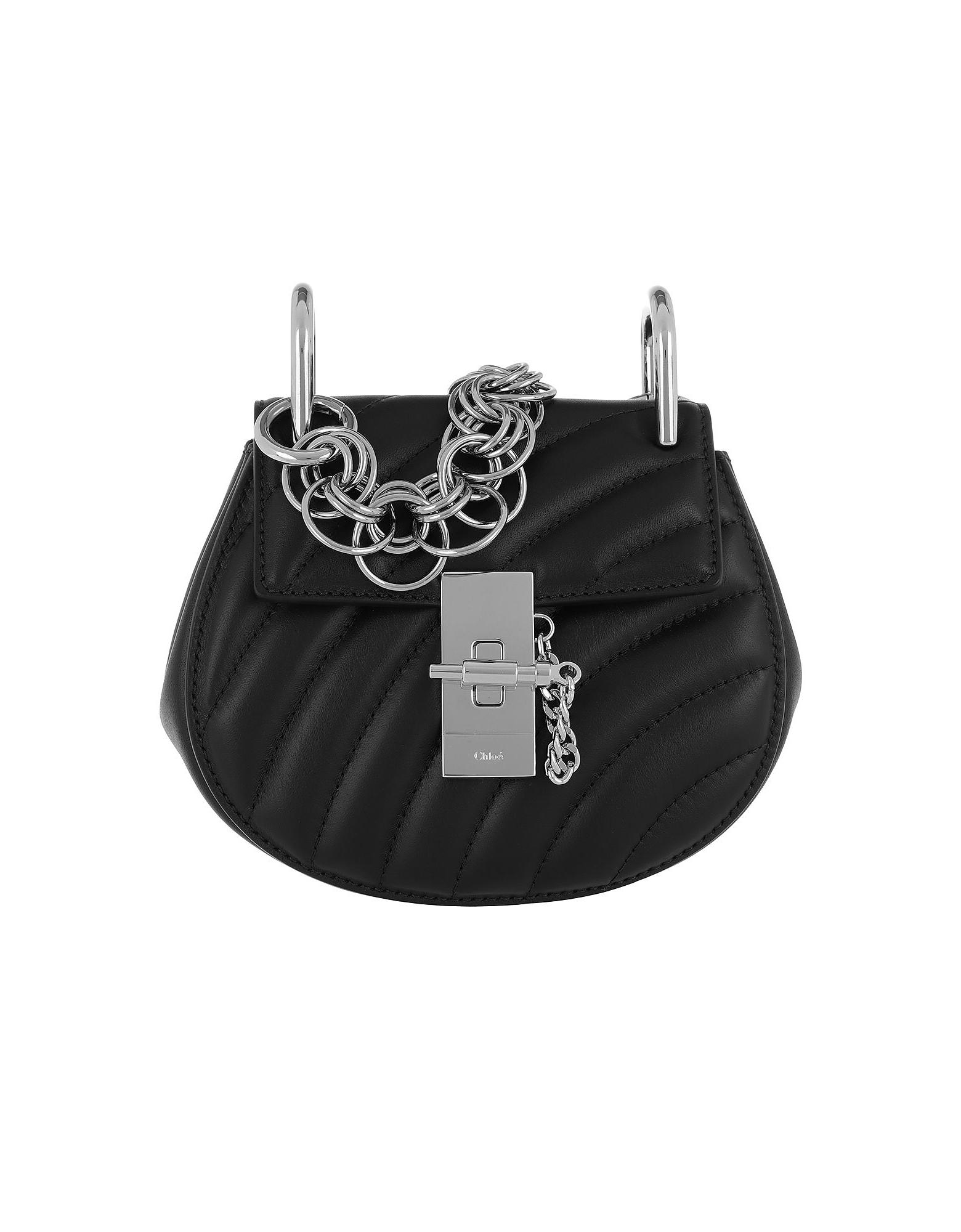 Drew Bijou Mini Shoulder Bag Black