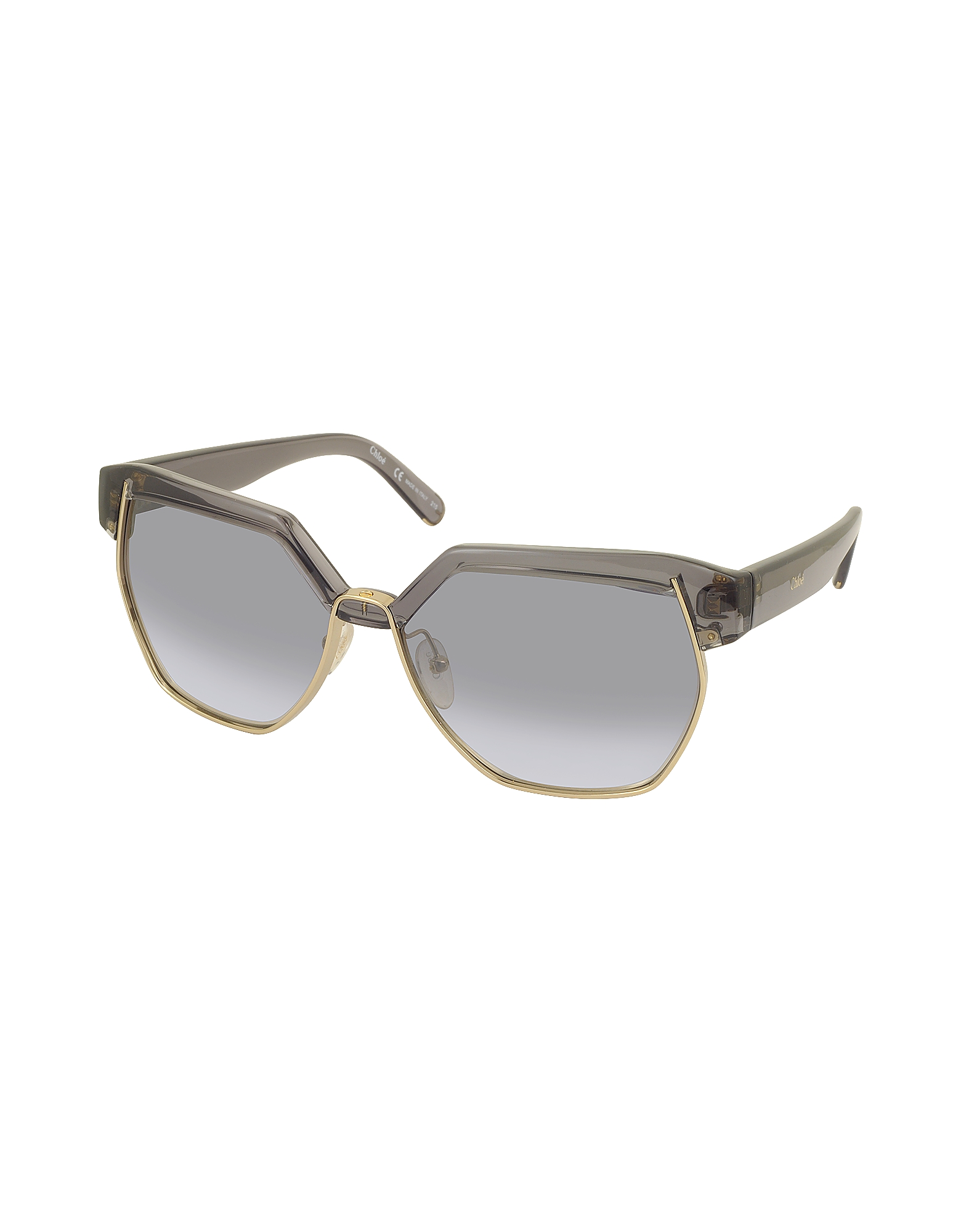 DAFNE CE 665S 036 Gray Acetate and Gold Metal Geometric Women's Sunglasses от Forzieri.com INT