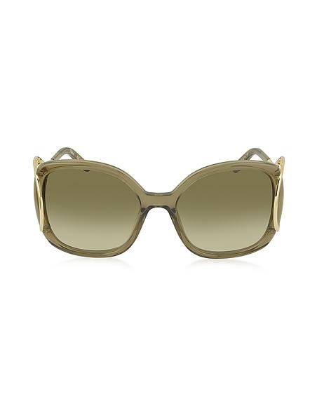Chloe JACKSON CE 702S Damen Sonnenbrille aus Acetat und Metall in quadratischer Form