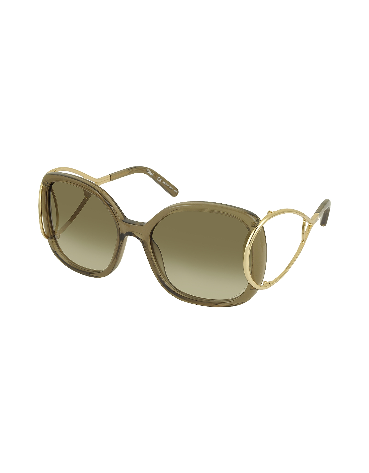 JACKSON CE 702S Large Square Acetate & Metal Women's Sunglasses от Forzieri.com INT