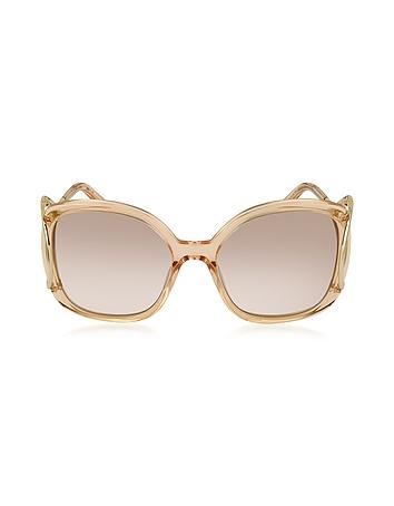 Chloe - JACKSON CE 702S Large Square Acetate & Metal Women's Sunglasses