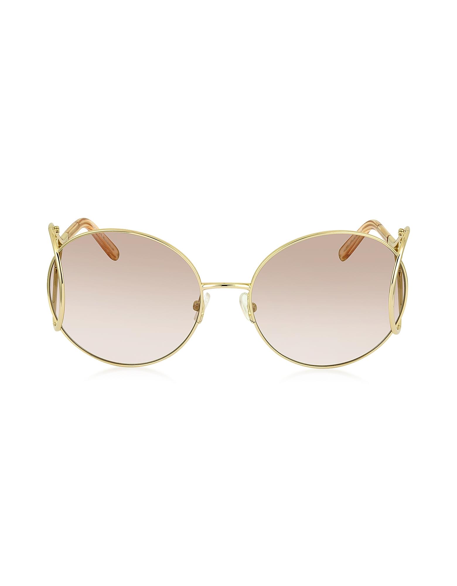 Chloe Sunglasses, JACKSON CE 124S Metal Round Women's Sunglasses