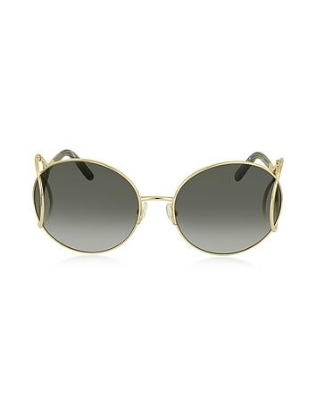 Chloe - JACKSON CE 124S Metal Round Women's Sunglasses