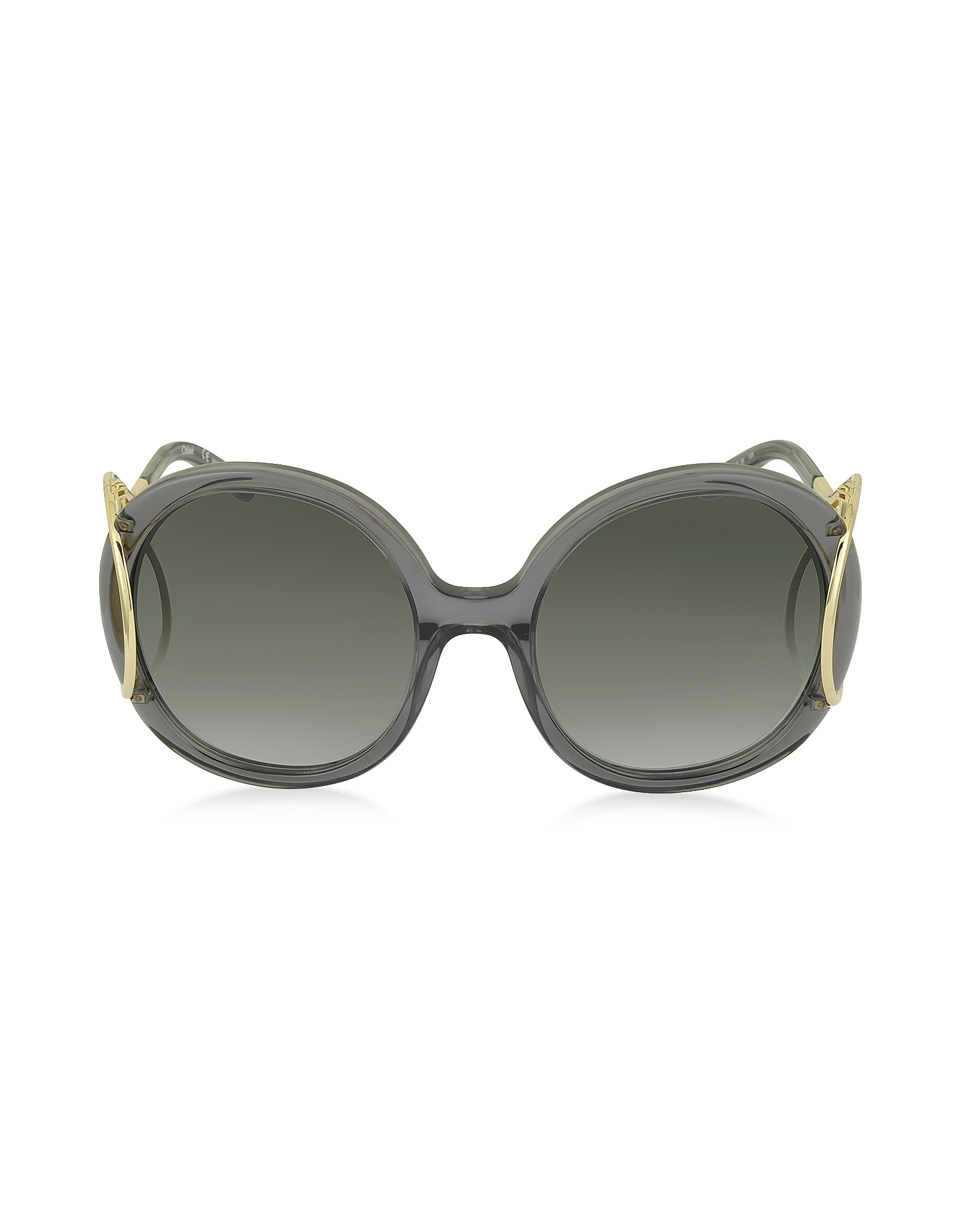 Chloe Sunglasses, JACKSON CE 703S Large Round Acetate and Metal Women's Sunglasses