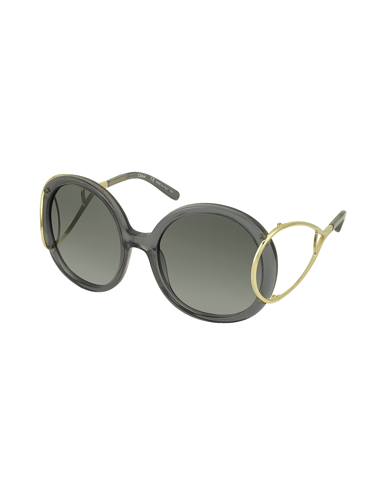 JACKSON CE 703S Large Round Acetate and Metal Women's Sunglasses от Forzieri.com INT
