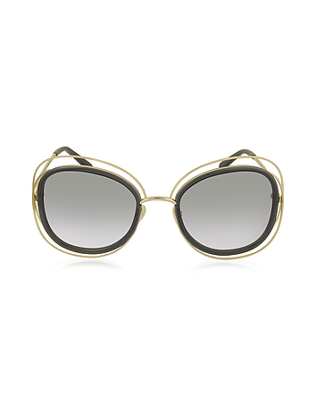 Chloe - CARLINA CE 123S Square Oversized Acetate & Metal Women's Sunglasses