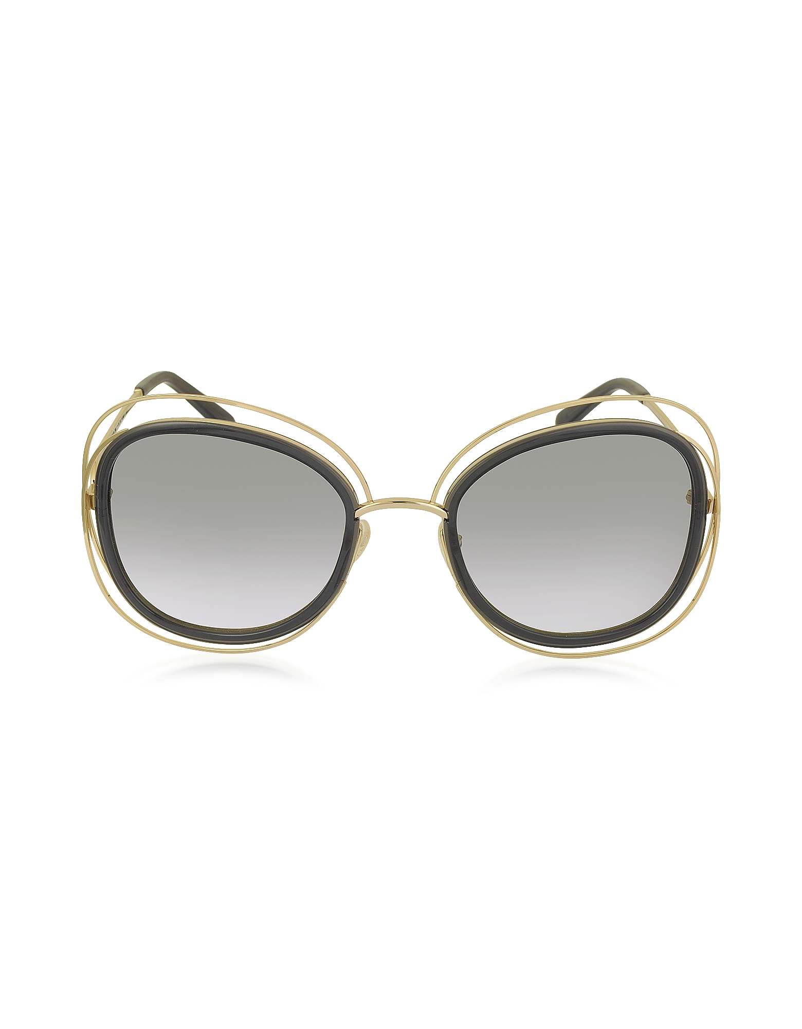 Chloe Sunglasses, CARLINA CE 123S Square Oversized Acetate & Metal Women's Sunglasses