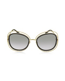 CARLINA CE 123S Square Oversized Acetate & Metal Women's Sunglasses - Chloe