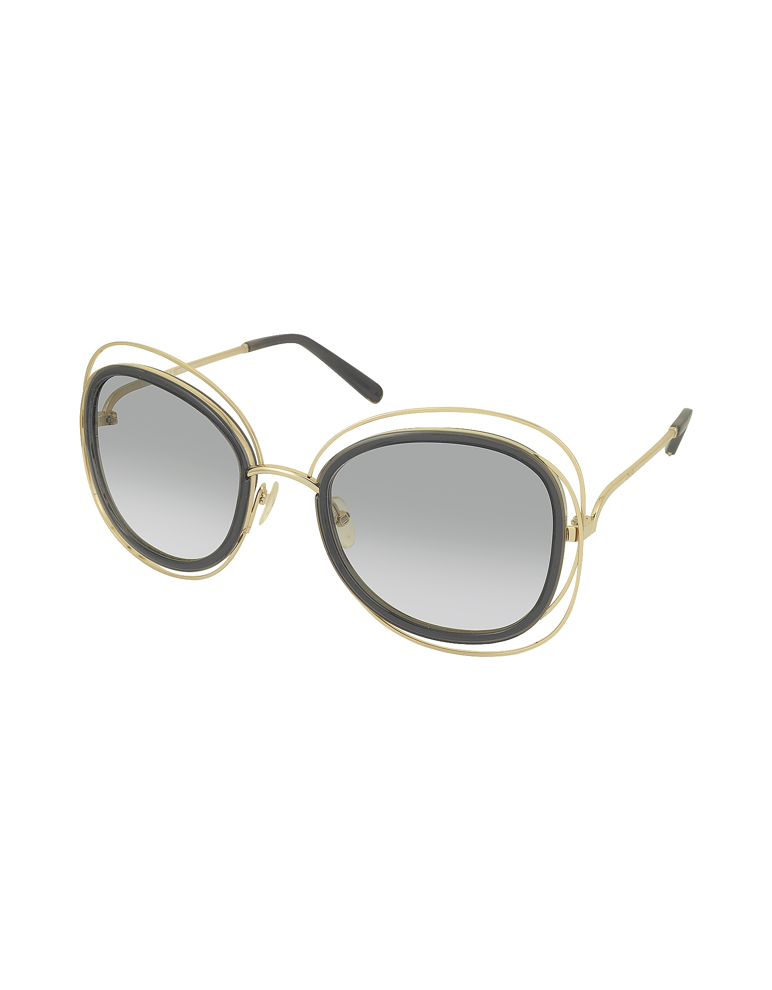 CARLINA CE 123S Square Oversized Acetate & Metal Women's Sunglasses от Forzieri.com INT