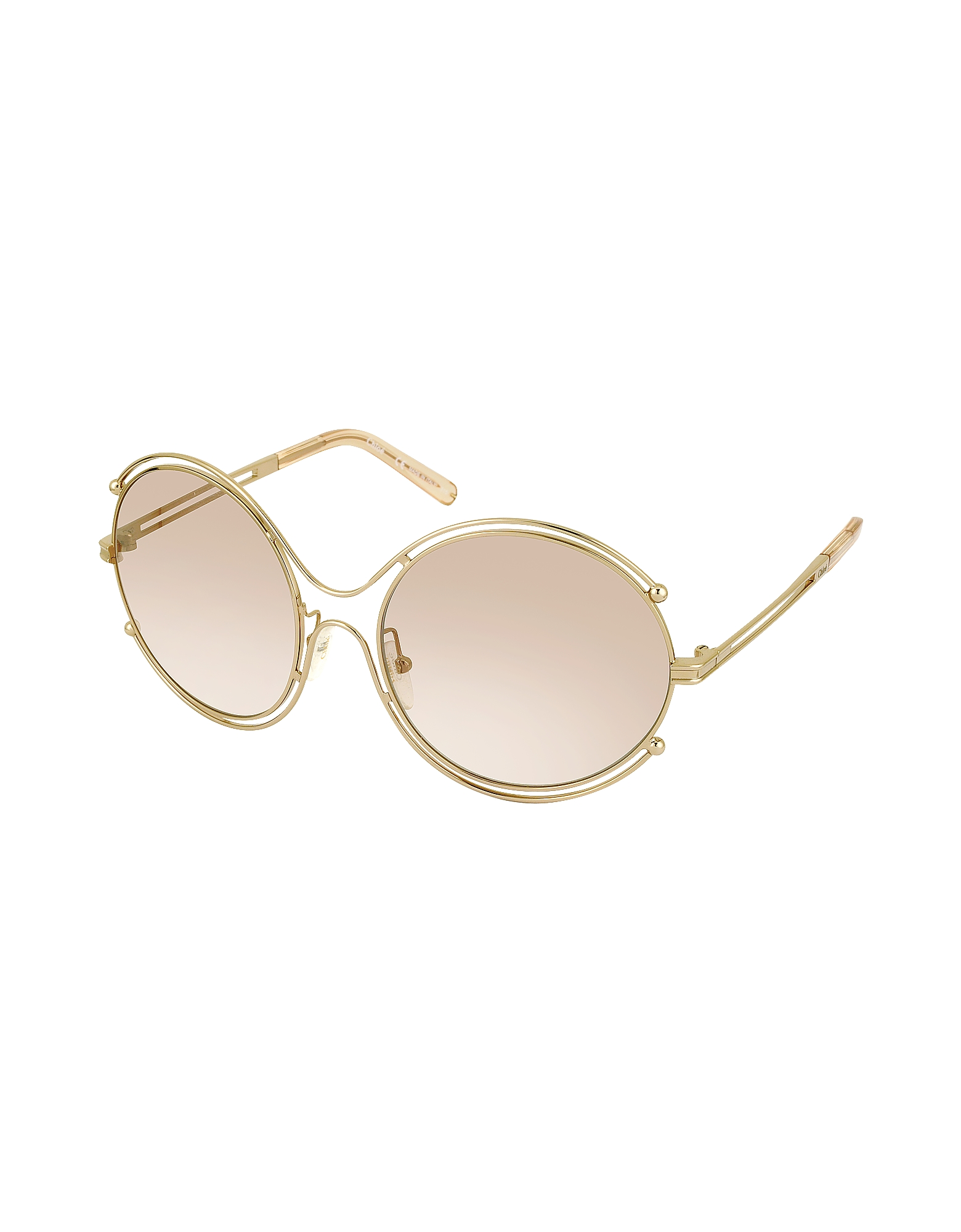 ISIDORA CE 122S Oval Oversized Metal Women's Sunglasses от Forzieri.com INT