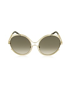 ISIDORA CE 122S Oval Oversized Metal Women's Sunglasses - Chloe