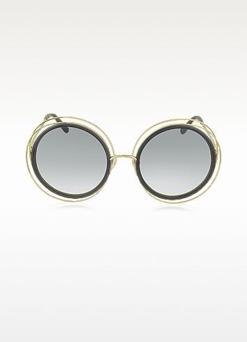 Chloe CARLINA CE 120S - Большие Круглые Женские Солнечные Очки из Ацетата и Металла