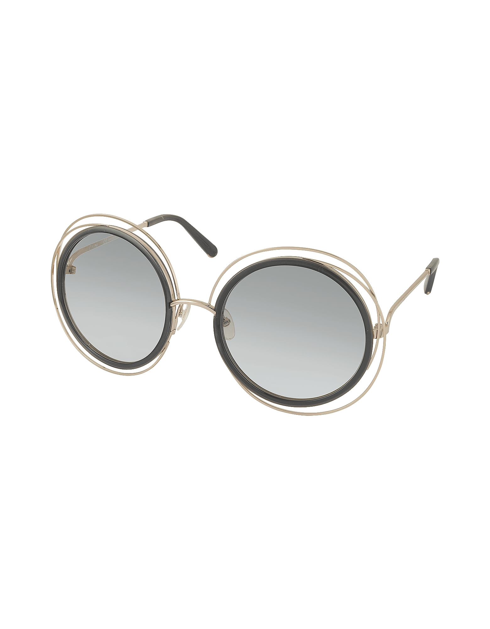 CARLINA CE 120S Round Oversized Acetate & Metal Women's Sunglasses от Forzieri.com INT
