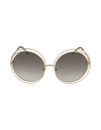 Chloe - CARLINA CE 114S Metal Oval Women's Sunglasses
